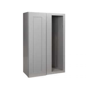 "Gray Shaker 27"" Wall Blind Corner Cabinet"
