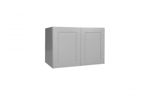 """Gray Shaker 36"""" Refrigerator Wall Cabinet"""