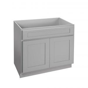 "Gray Shaker 24"" - 36"" Vanity Sink Cabinet"