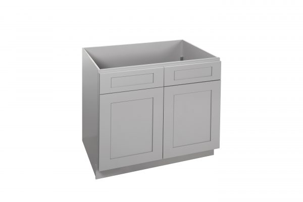 "Gray Shaker 30"" - 36"" Sink Base Cabinet"
