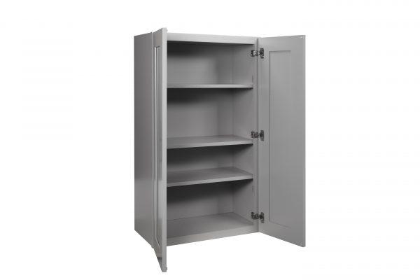"Gray Shaker 27"" Wall Cabinet"