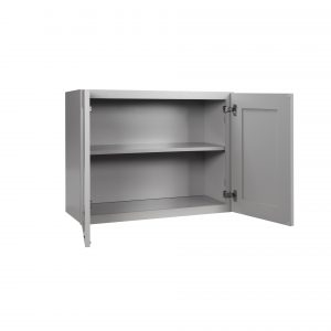 "Gray Shaker 30"" - 36"" Bridge Wall Cabinets"