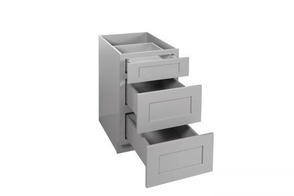 Gray Shaker Vanity Drawer Base