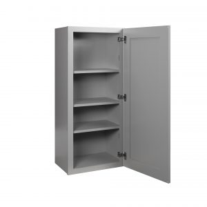 "Gray Shaker 15"" Wall Cabinet"