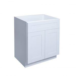 "White Shaker 24"" - 36"" Vanity Sink Cabinet"