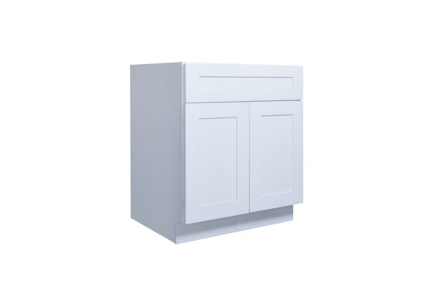 "White Shaker 30"" - 36"" Sink Base Cabinet"