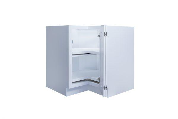 "White Shaker 33"" - 36"" Lazy Susan Corner Base Cabinet"