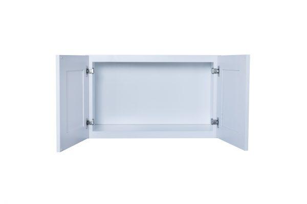 "White Shaker 30"" - 36"" Bridge Wall Cabinets"