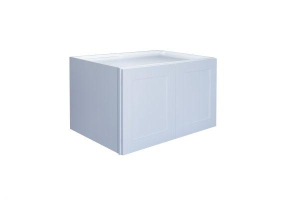 "White Shaker 36"" Refrigerator Wall Cabinet"