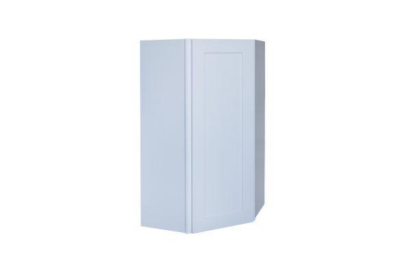 "White Shaker 24"" Wall Diagonal Corner Cabinet"