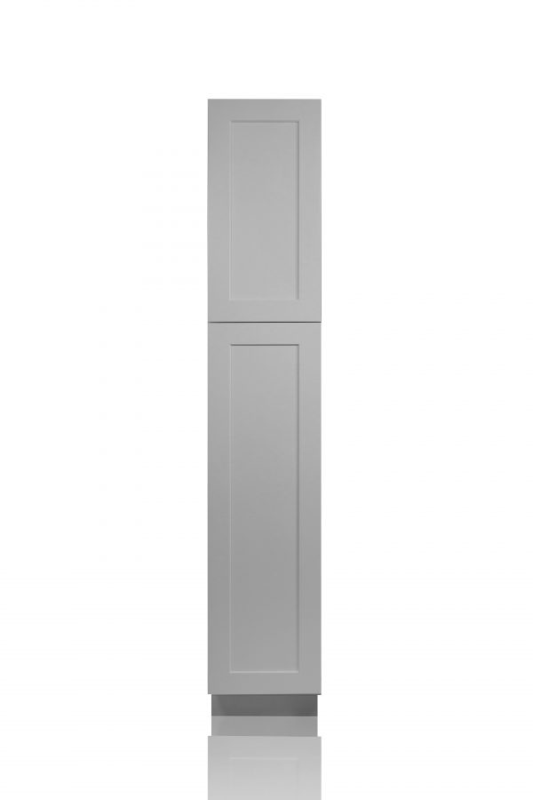 """Gray Shaker 18"""" Pantry / Utility Cabinet"""