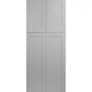"""Gray Shaker 24"""" Pantry / Utility Cabinet"""