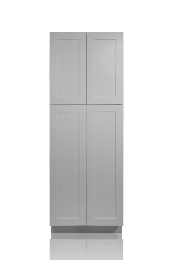 """Gray Shaker 30"""" Pantry / Utility Cabinet"""