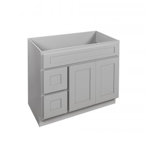"""Gray Shaker 36"""" Vanity Cabinet with Drawers L/R"""