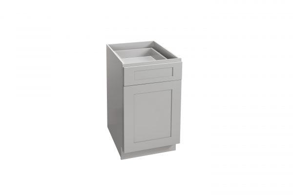 "Gray Shaker 09"" - 21"" Base Cabinet - Single Door / Single Drawer"