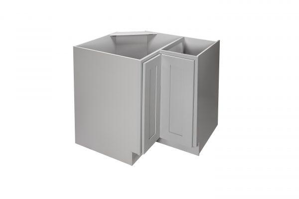 "Gray Shaker 33"" - 36"" Lazy Susan Corner Base Cabinet"