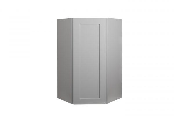 "Gray Shaker 24"" Wall Diagonal Corner Cabinet"